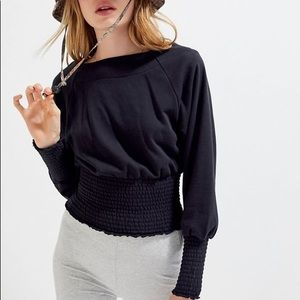 Out from Under Smocked Pullover Sweatshirt UO